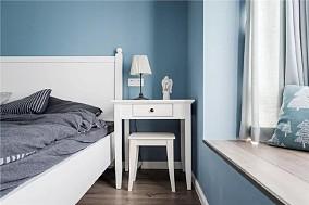 100㎡清新美式3室2厅卧室美式经典设计图片赏析