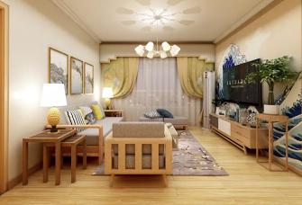 木质浅色系充分利用空间的日式风格