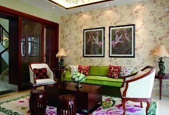 青英汇156㎡四居室东南亚风格