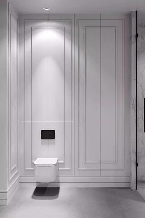 高级灰做为主色调轻奢、高雅、温馨卫生间欧式豪华设计图片赏析