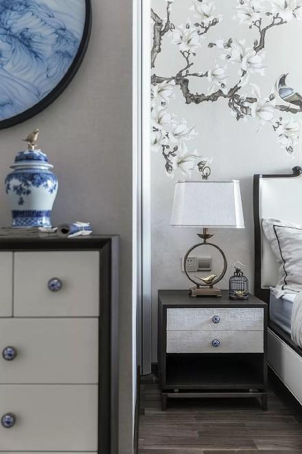 146平青花案,优雅中国风!卧室