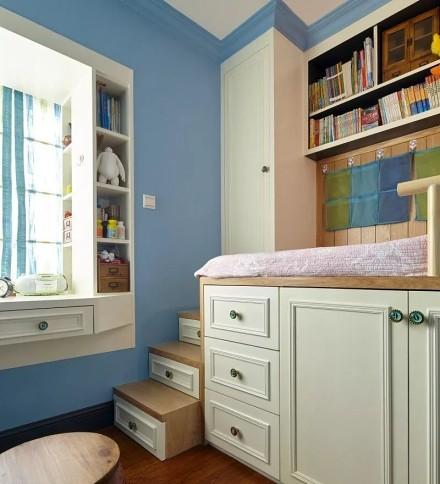 86㎡多彩美式装修两居室功能区