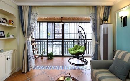 美式田园风格三室二厅180平阳台