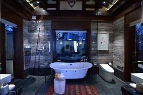 剔除一切繁琐的设计元素卫生间中式现代设计图片赏析