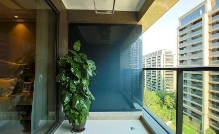 北欧风格三室一厅136平阳台
