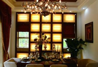 钻石湾129㎡三居室东南亚风格