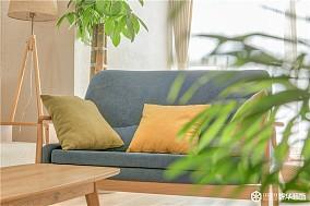 90㎡两室,演绎日式的素雅禅心!客厅日式设计图片赏析