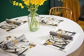 110㎡北欧风,颜色丰富的家轻松优雅!厨房北欧极简设计图片赏析