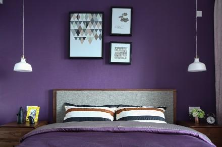 89平米简约北欧,蓝色之恋卧室