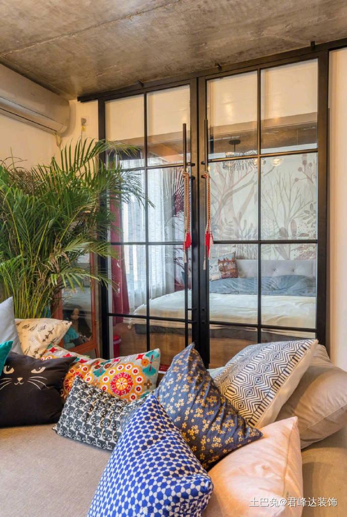 38平一室一厅混搭配套好齐全客厅潮流混搭客厅设计图片赏析