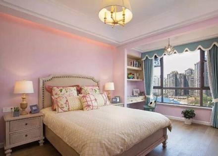 就像沐浴的阳光,128㎡美式风卧室