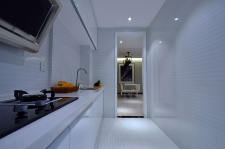 116m²三居室,小夫妻的恬静北欧风餐厅