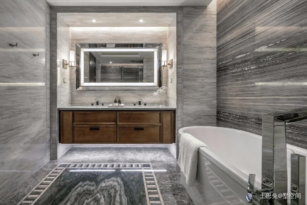 95㎡欧式风这样的设计看一眼就心动卫生间洗漱台欧式豪华卫生间设计图片赏析