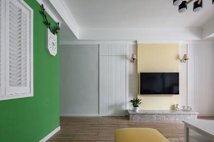 三居室现代风格,色彩、空间都刚刚好!客厅