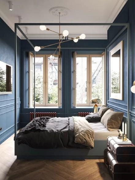 75平的公寓显示出生活的精致优雅卧室