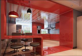 89平两居因糖果色而精彩餐厅现代简约设计图片赏析