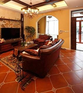 160平三居地中海风客厅2图地中海设计图片赏析