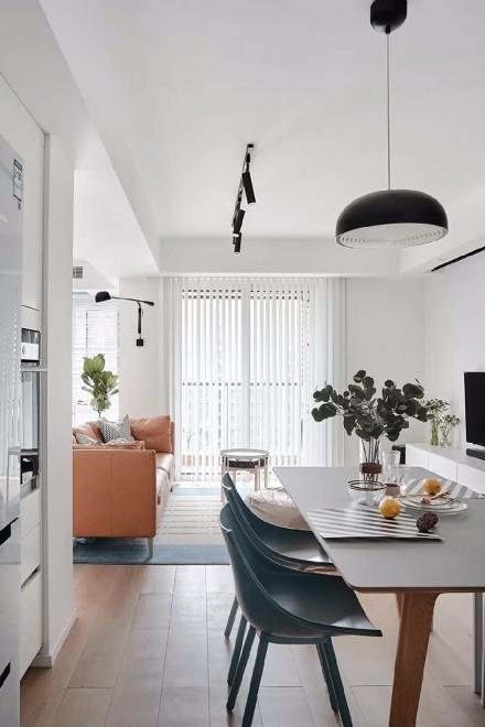 90平美式田园二居室厨房