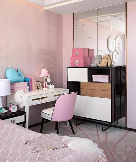 334平中式现代别墅设计卧室