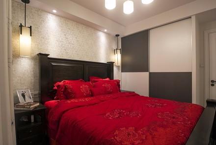 85平现代混搭二居室卧室