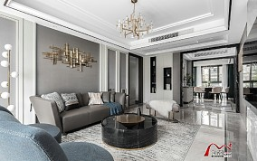 155平方欧式华尔兹客厅欧式豪华设计图片赏析