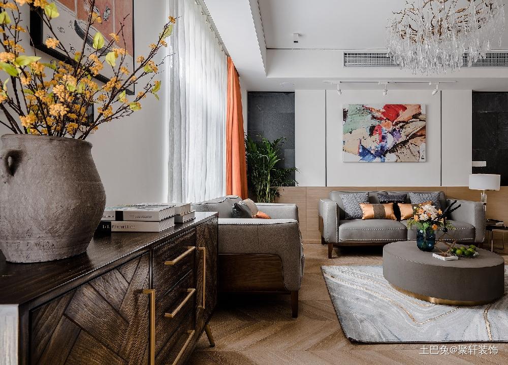 高端大气优雅安静客厅现代简约客厅设计图片赏析