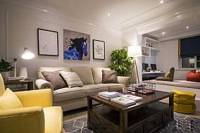 85平现代混搭二居室客厅现代简约设计图片赏析