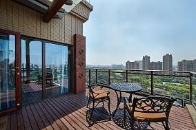 160m²美式 巴黎都市阳台美式经典设计图片赏析
