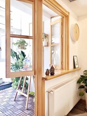 原木色系的巧妙搭配阳台现代简约设计图片赏析