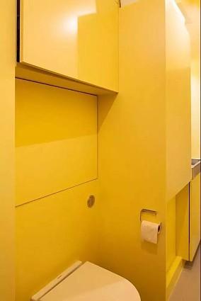 76㎡现代小公寓,这样装修好黄卫生间现代简约设计图片赏析