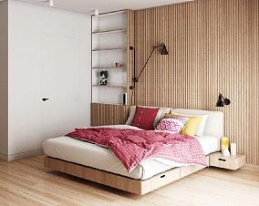 用木格栅装饰墙面,轻松打造高颜值的家卧室北欧极简设计图片赏析