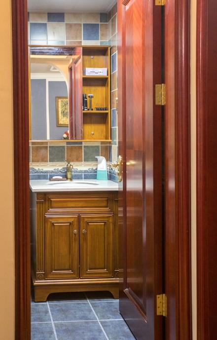 美式经典三居室138平米卫生间