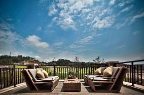 80平中式风格设计你理想的家阳台中式现代设计图片赏析
