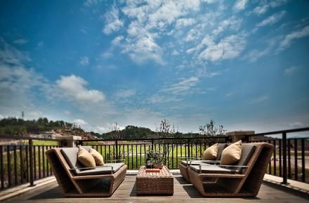 80平中式风格设计你理想的家阳台