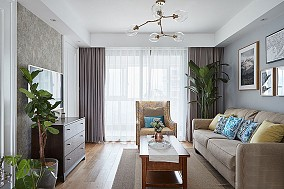 90㎡清新北欧风三室两厅客厅11046600