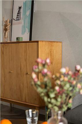 78m²两居,猫咪乐园为主题的无风格之家玄关北欧极简设计图片赏析