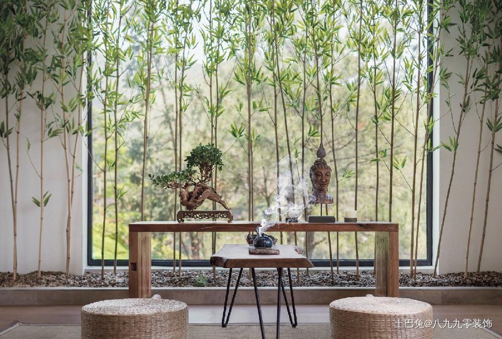 中式风格纯净朴素的山居生活功能区中式现代功能区设计图片赏析
