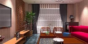 奥园:118平中现代式客厅中式现代设计图片赏析