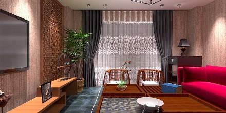 奥园:118平中现代式客厅