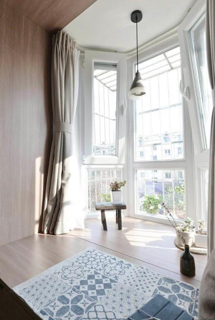 70㎡两室一厅日式风格阳台