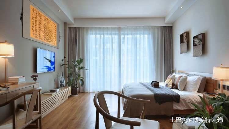 38㎡日式单身公寓闹市中的禅意乐居卧室日式卧室设计图片赏析