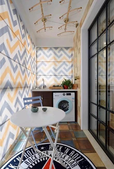 3室2厅的现代美式风格阳台