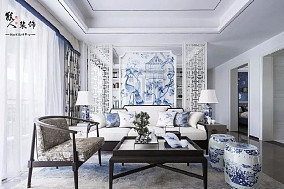 经典青花案|优雅中国白11104777