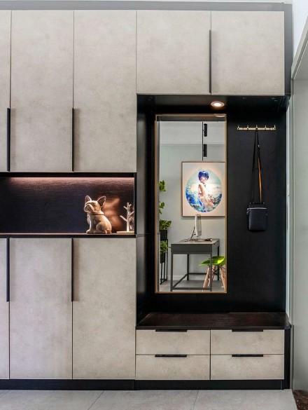 88平米的二居室,混搭风格玄关