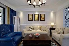 3室2厅的现代美式风格客厅美式田园设计图片赏析