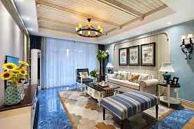 天鹅堡160平乌托邦般梦境奇幻之旅客厅地中海设计图片赏析