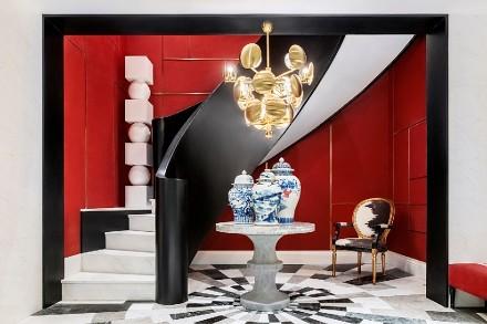 用鲜明的色彩,勾勒出了不拘一格的欢乐场客厅1图