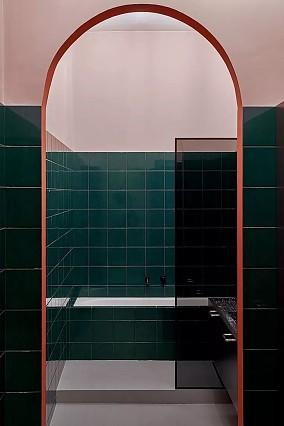 用纹理和色彩打造的时尚公寓卫生间其他设计图片赏析