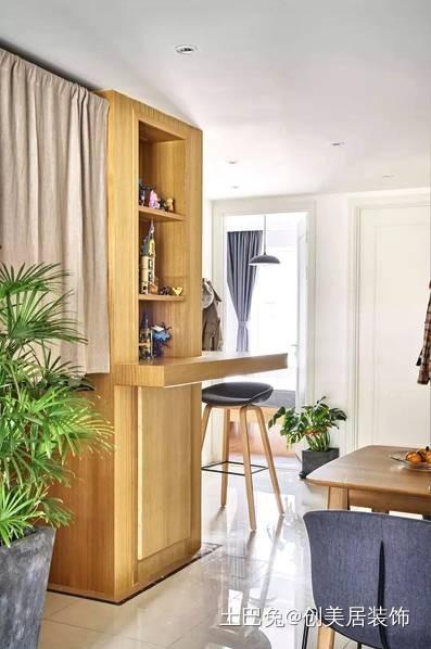 87㎡的家挤出3室2厅让家变大一倍功能区窗帘其他功能区设计图片赏析