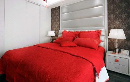 80平米的二居室,混搭风卧室1图